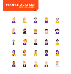 modern material flat design icons - people avatars vector image