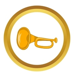 Music tube icon vector image