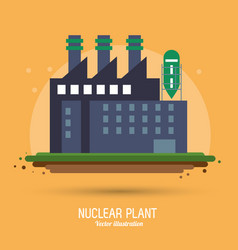 Nuclear plant power industry icon graphic vector