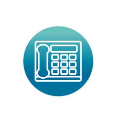 Office intercom telephone call supply block vector