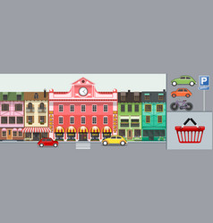 Old european town vector