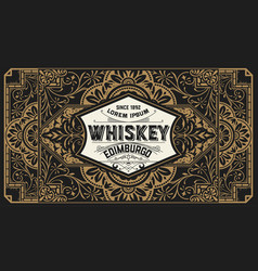 old label design for whiskey and wine labe vector image