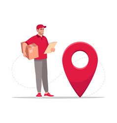 Package geolocation semi flat rgb color vector