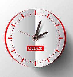Paper Cut Clock Face vector image