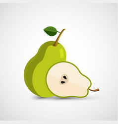 pear modern icon vector image