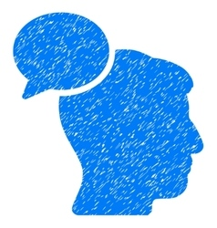 Person Idea Grainy Texture Icon vector