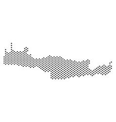 Pixel crete island map vector