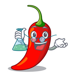 Professor character red chili pepper for seasoning vector