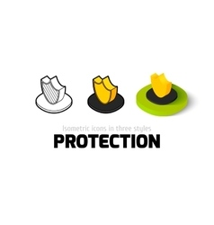 Protection icon in different style vector image