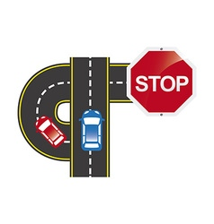 road traffic vector image