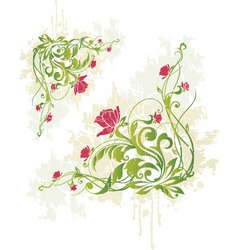 Rose vine graphic vector