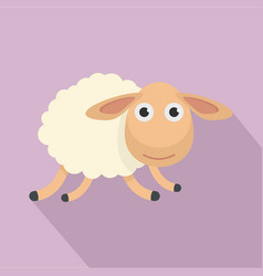 running sheep icon flat style vector image