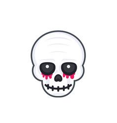 Scary skull on white vector