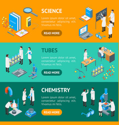 science chemical pharmaceutical 3d banner vector image
