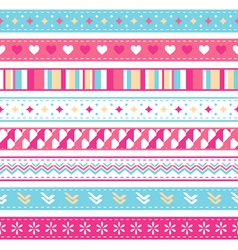 seamless ribbons vector image