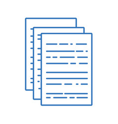 Silhouette business documents to finance vector