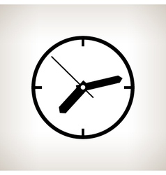 Silhouette watch on a light background vector