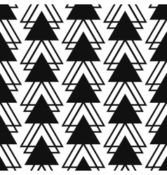 Simple triangle shape black and white seamless vector image