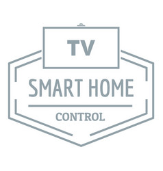 smart house logo simple gray style vector image