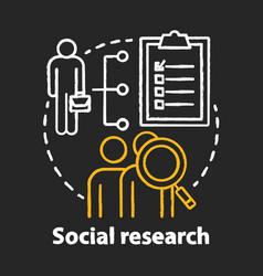 Social research chalk concept icon sociology idea vector