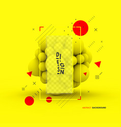 sphere 3d concept for science technology design vector image