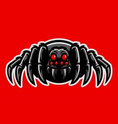 Spider mascot set vector