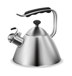 Steel whistling kettle vector image