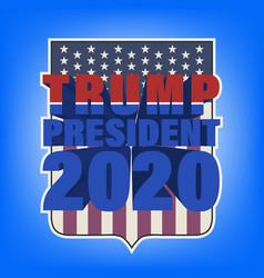 Sticker with 3d inscription trump president 2020 vector