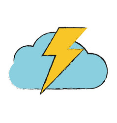storm electric cloud vector image