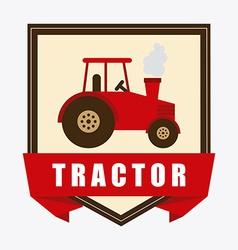 Tractor design vector