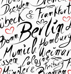 Travel Germany destination city seamless pattern vector image
