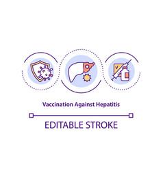 Vaccination against hepatitis concept icon vector