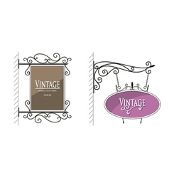 Vintage Wall Post Sign vector image vector image