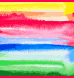 watercolor abstract background from brush strokes vector image