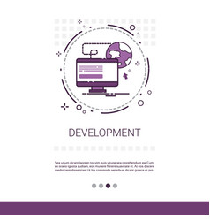 web design software development computer vector image