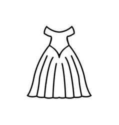 weddign dress icon design template isolated vector image