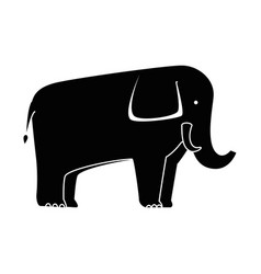 wild elephant isolated icon vector image