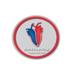 World Heart Day - September 29 A heart Baner vector