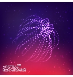 Abstract wave background with connecting dots and vector image