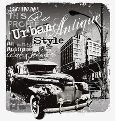 antique car urban style vector image vector image