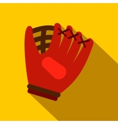 Baseball glove flat icon vector image
