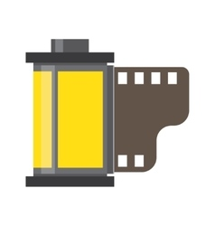 Camera film roll negative and films photo in vector image