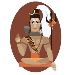 Shiva deity vector