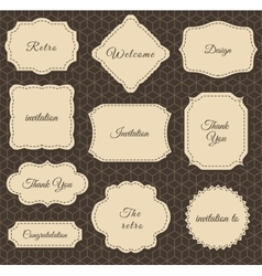 Vintage Frames Dark Background vector image vector image