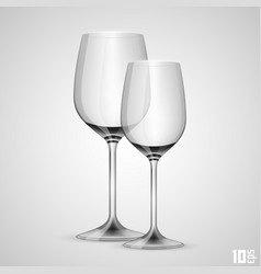 wineglass object vector image vector image