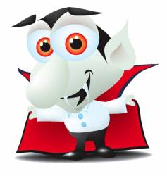 little Dracula vector image vector image