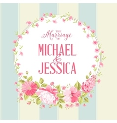 Luxurious marriage card vector image vector image