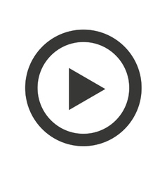 play movie button flat icon vector image