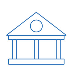 Silhouette bank with financial cash money economy vector