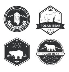 Vintage bear icons mascot emblems and vector image vector image